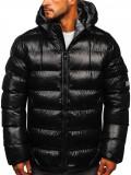 Geacă de iarnă bărbați neagră-gri matlasată Bolf 6461