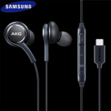Cumpara ieftin Casti In-Ear Type-C Samsung - Tuned by AKG Microfon Galaxy S20 S10 S9 Note10+ 9 8 Lite Plus Ultra - Bulk
