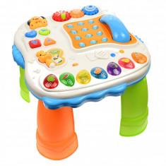 Masa interactiva pentru bebelusi, jucarie inteligenta cu functii multiple, sunete si lumini - SY82