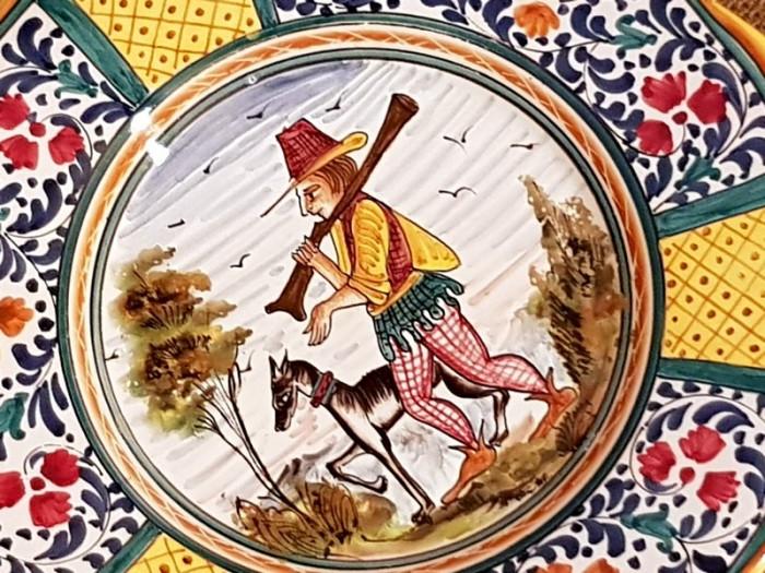 Farfurii ceramica DERUTA ITALIA PICTURA - farfurie perete colectie