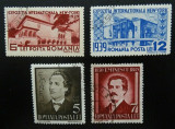 Romania LP 129+130 , Expozitia internationala + M. Eminescu , Stampilate