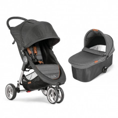 Carucior City Mini 3 Baby Jogger, sistem 2 in 1, gri