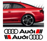 Sticker ornament auto lateral Audi (v2)
