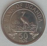 Republica Uganda - 50 Cents 1976