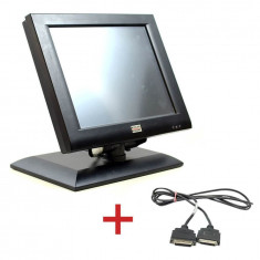 Monitor Touch BA72A-2, IR-Touch, 12 inch + Cablu Special Plink Wincor