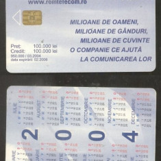 Romania 2004 Telephone card Calendar CT.035