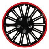 Set 4 capace roata 15'' C-118 TYPE negru cu rosu, Lampa