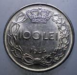 7.367 ROMANIA WWII MIHAI I 100 LEI 1944 EROARE