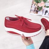 Pantofi dama Piele casual rosii Kariva-rl