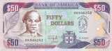 Bancnota Jamaica 50 Dolari 2010 - P88 UNC ( comemorativa )