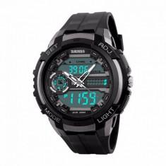 Ceas Barbatesc SKMEI CS899, curea silicon, digital watch, Functii- alarma, ora, cadran luminat, rezistent 3ATM, negru foto