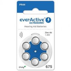 Baterii pentru proteze auditive Everactive ultrasonic 675 Zinc-Aer 6 Baterii /set