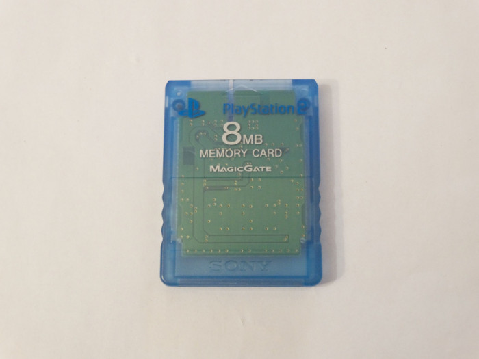 Card memorie Sony Playstation 2 PS2 8 Mb - original SONY - blue clear
