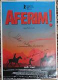 Afisul filmului Aferim , in regia lui Radu Jude , cu autografe