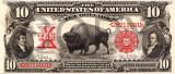 10 dolari 1901 Reproducere Bancnota USD , Dimensiune reala 1:1
