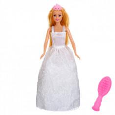 Papusa mireasa, Betty, 31 cm, cu accesorii, alb
