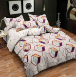 Cumpara ieftin Lenjerie de pat dublu din microfibră , cu 2 fete de perna, Evia Home MF010/19