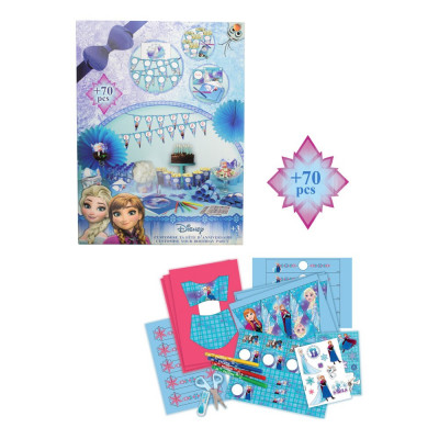 Set accesorii petrecere aniversare 70 piese Disney Frozen - D`Arpeje foto