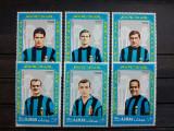 AJMAN 1968-MNH-FOTBALISTI ITALIENI-SERIE, Nestampilat