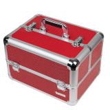 Geanta Produse Cosmetice din Aluminiu Fraulein38, Red