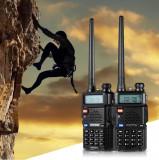 Set 2 statii radio Baofeng UV-5R Dual Band  + Bonus Casti cu microfon incluse, Oem