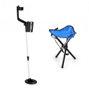 DURAMAXX Basic One Blue, set pentru cautarea comorilor, detector de metale +scaun albastru și bobină de 16,5 cm