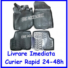 Set Covorase Cauciuc stil tavita DACIA LOGAN II 2013 -> NEGRE AL-101116-16
