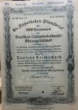 1000 Reichsmark titlu de stat Germania 1942