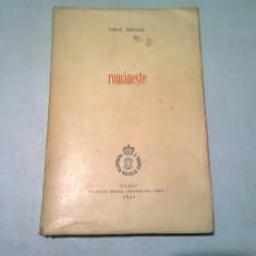 ROMANESTE - VIRGIL IERUNCA (CU DEDICATIA AUTORULUI)
