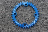 Snail Narrow Wide CNC foaie aluminiu MTB 34t - BCD104mm - Albastru