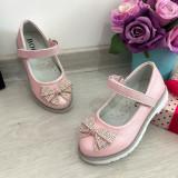 Cumpara ieftin Pantofi roz cu fundita si strasuri / sandale pt fetite 24 25, Fete