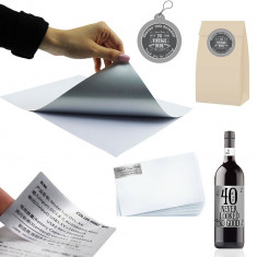 Folie adeziva argintie printabila inkjet, mata, rezistenta apa, A4, 20 coli, Procart
