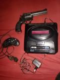 Joc TV Sega-MEGA DRIVE 2-Consola,joystick,pistol,acumulator,NETESTAT,T.GRATUIT