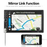 "Radio MP5 Video Player Auto Display 7"" 2DIN Bluetooth USB Mirror Link"