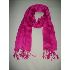 Esarfa rafinata, de culoare roz, corai, gri, maro, alb ES-2377-AL