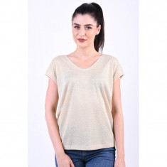 Bluza Only Silvery V-Neck Lurex Gold Colour