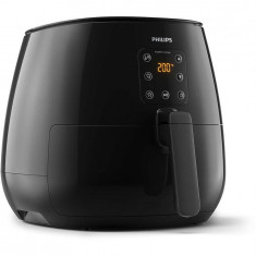 Friteuza fara ulei Philips Airfryer XL HD9260/90 Viva Collection, capacitate 1.2kg, Rapid Air, afisaj digital, Negru