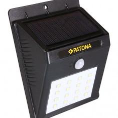 PATONA | Lampa solara cu senzor de miscare cu 16 led-uri
