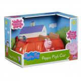 Set Peppa Pig, Figurina Peppa cu masinuta