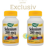 Selenium 200mcg 60cps Pachet 1+1