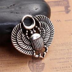 Pandantiv Amueta Talisman Pandantiv Scarabeu vintage egiptean scarabeu