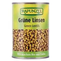 Linte Verde Bio Cutie Rapunzel 400gr Cod: 702240
