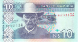 Bancnota Namibia 10 Dolari (2001) - P4c UNC