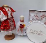 Cumpara ieftin Set Botez Traditional Marina 9 - 4 piese costumas, lumanare, trusou si cufar