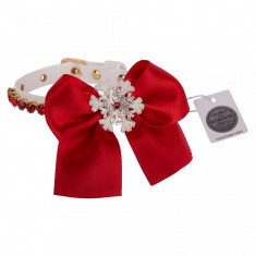 Zgarda Snowflake 25 cm- decorata cu cristale Swarovski si fundita- F1349...