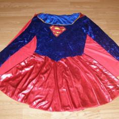 costum carnaval serbare superman supergirl pentru adulti marime L-XL