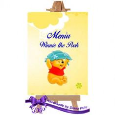 Meniu botez Winnie the Pooh Handmade by Diana Puiu MEBW 1