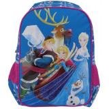 Ghiozdan clasa 0, Frozen, pentru fete, inaltime 38 cm, albastru, Pigna