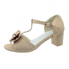 Sandale elegante cu toc fetite MRS R1308R, Roz
