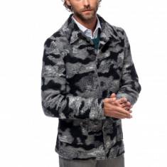 Jacheta Barbati Casual Scurta din Lana cu Imprimeu Camuflaj G018 Mat05